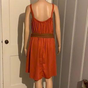 Cute Chelsey burnt orange dress